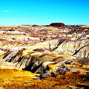 Petrified Forest Prints - Painted Desert in Petrified Forest National Park Vivid Square Print by Shawn OBrien