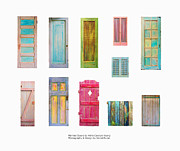 Found-object Framed Prints - Painted Doors and Window Panes Framed Print by Asha Carolyn Young and Daniel Furon