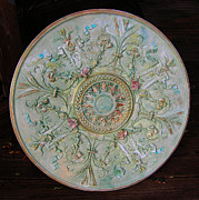 Medallion Paintings - Painted Entry Ceiling Medallion by Lizi Beard-Ward