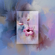 Judy Hall-Folde - Painted Flowers Layered