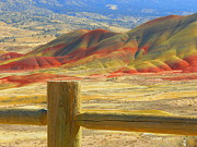 Mountains Mixed Media - Painted Hills by Photography Moments - Sandi