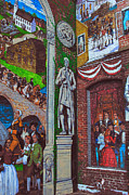 Brick Building Art - Painted History 1 by Joann Vitali