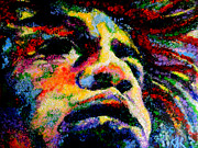 Jimi Hendrix Digital Art Originals - Painted Jimi by Art by Kar