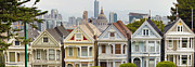 Painted Hall Photos - Painted Ladies Row Houses by Alamo Square by JPLDesigns
