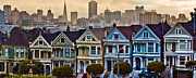 Painted Ladies Framed Prints - Painted Ladies San Francisco CA Framed Print by John McGraw