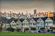 Painted Ladies Posters - Painted Ladies San Francisco Poster by Ron Schwager