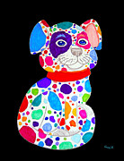 Painted Pooch 2 Print by Nick Gustafson