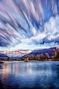 Montana Landscape Photos - Painted Skies by Aaron Aldrich