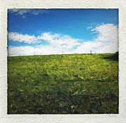 Grass Prints - Painted Sky Print by Linda Woods