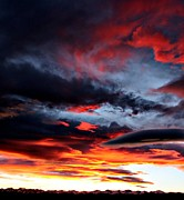 Colorado Mountain Posters Prints - Painted Sky Sunset Print by Barbara Chichester