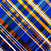 Scottish Digital Art - Painted Tartan by Hakon Soreide