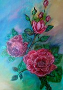 Alice In Wonderland Paintings - Painted the Roses Red by Marilyn  Sahs
