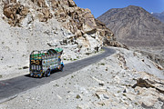 Jeeps Photos - Painted truck on the Karakorum Highway by Robert Preston