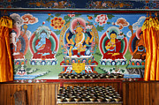 Wall Decoration Posters - Painted walls at the Buddhist Phodong Monastery in Sikkim India Poster by Robert Preston