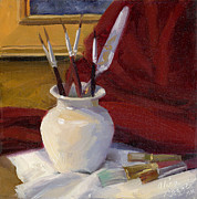 Picture Painting Originals - Painters Tools by Alice Leggett