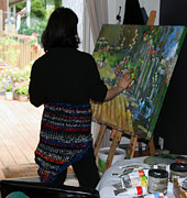 Behind The Scene Art - Painting My Backyard 1 by Becky Kim