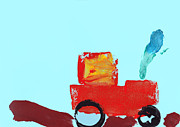 Beautiful Child Posters - Painting Of A Truck In Childrens Style Poster by Fizzy Image