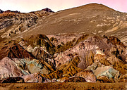 Painting Of Artists Pallete Death Valley Print by Nadine and Bob Johnston