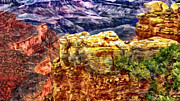 Painting Of The Grand Canyon Print by Nadine and Bob Johnston