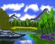 Shreya Sham - Painting of Yosemite