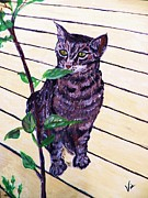 On Deck Painting Posters - Painting   Snugs on the Deck Poster by Judy Via-Wolff