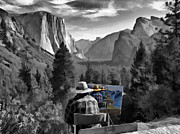 Yosemite National Park Digital Art - Painting Yosemite by John Haldane
