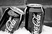 Pop Can Photos - Pair of Coca-Cola in the Snow by Shaun Maclellan