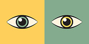 Watchdog Prints - Pair Of Eyes Print by Igor Kislev