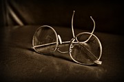 Exam Framed Prints - Pair of Glasses black and white Framed Print by Paul Ward