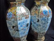 Cranes Ceramics - Pair of Japanese Hirado porcelain vases by Anonymous