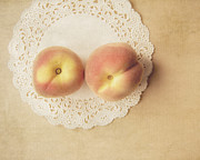 Peaches Photo Framed Prints - Pair of Peaches Framed Print by Jillian Audrey Photography