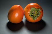 Pair Framed Prints - Pair Of Persimmons Framed Print by Dan Holm