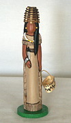 Tribal Art Sculptures - Paiute worry doll by Linda Rous