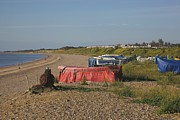Lowestoft Metal Prints - Pakefield Beach UK Metal Print by Ralph Muir