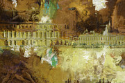 Rebuilt Prints - Palace and Park of Versailles Print by Catf