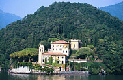 Lago Di Como Art - Palace at Lake Como Italy by Greta Corens