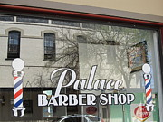 Small Towns Prints - Palace Barber Shop Print by Donna Wilson