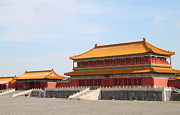 Red Roof Pyrography - Palace Forbidden city in Beijing by Thanapol Kuptanisakorn