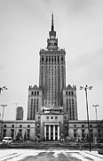 Polish Culture Framed Prints - Palace Of Culture Framed Print by Patrycja Polechonska