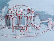 League Painting Prints - Palace of Fine Arts sketch Print by Vanessa Hadady BFA MA