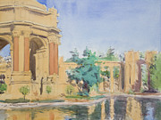 Park Scene Paintings - Palace of Fine Arts by Walter Mosley