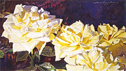 Floral Paintings - Palace Roses by David Lloyd Glover