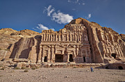 Jordan Photo Originals - Palace Tomb in Nabataean ancient town Petra by Juergen Ritterbach