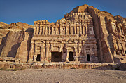 Architektur Photo Originals - Palace Tombin Nabataean ancient town Petra by Juergen Ritterbach