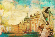 Old Town Painting Prints - Palaces and Parks of Potsdam and Berlin Print by Catf