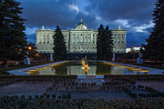 Espana Posters - Palacio Real Twilight Poster by Jennifer Grover