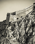 Byzantine Framed Prints - Palamidi Fortress Stairs Framed Print by David Waldo