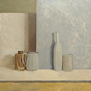Wooden Cabin Paintings - Pale Grey and Blue  by William Packer
