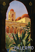 Gothic Poster Prints - Palermo Sicily Italy Print by Nomad Art And  Design