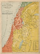 Old Map Digital Art - Palestine 1886 by Antique Engravings